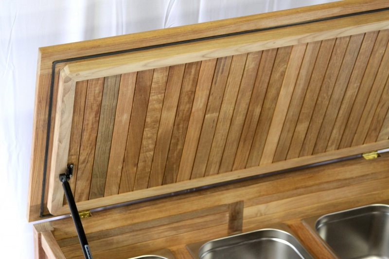 Teak Beverage Cooler - Click Image to Close
