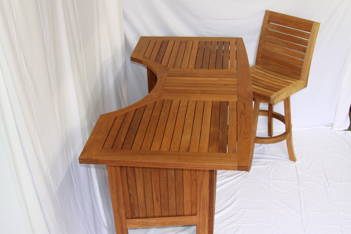 Avalon Folding Teak Bar Table