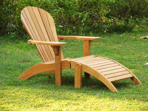 Teak Adirondack Ottoman & Teak Adirondack Chair : Teak Outdoor Furniture from BenchSmith