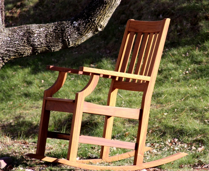 Avalon Teak Rocking Chair