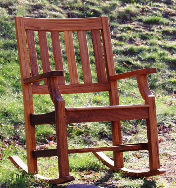 Avalon Teak Rocking Chair - Click Image to Close