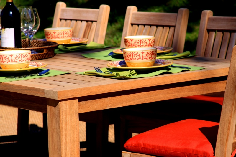 Bedrock Teak Table - Click Image to Close
