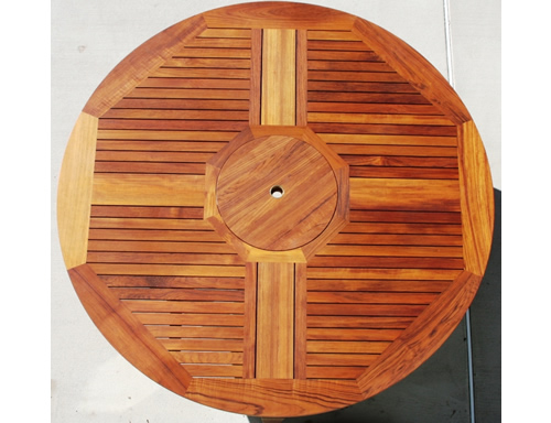Bryn Athyn Teak Round Table - Click Image to Close