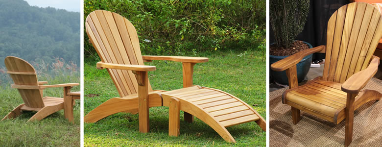 Teak Adirondack Chair & Teak Adirondack Chair : Teak Outdoor Furniture from BenchSmith
