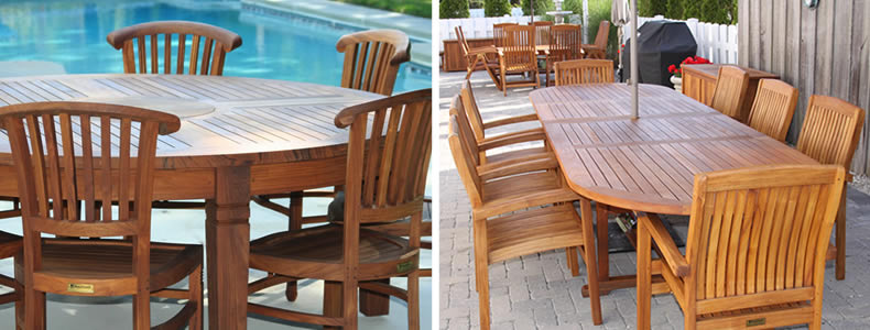 Teak Dining Tables  Teak Outdoor Furniture From BenchSmith - Teak outdoor dining table