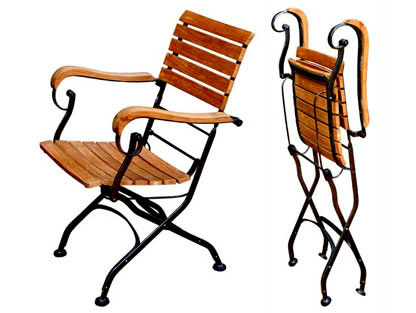 Folding Wrought Iron Chair
