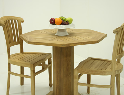 Octagonal Teak Tables
