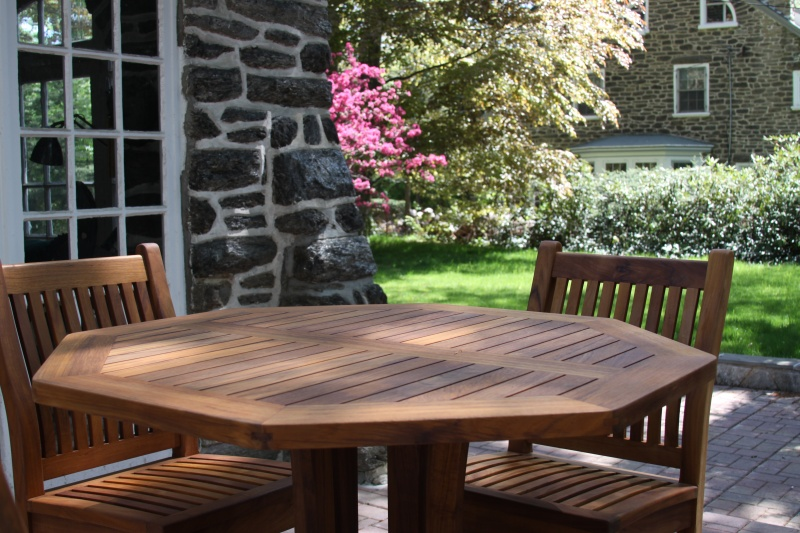 Octagonal Teak Tables - Click Image to Close