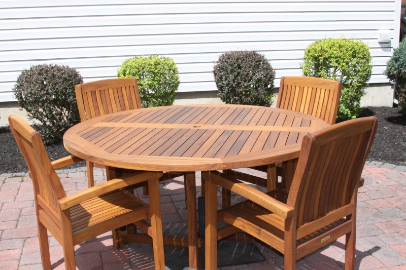 Round Teak Tables - Click Image to Close