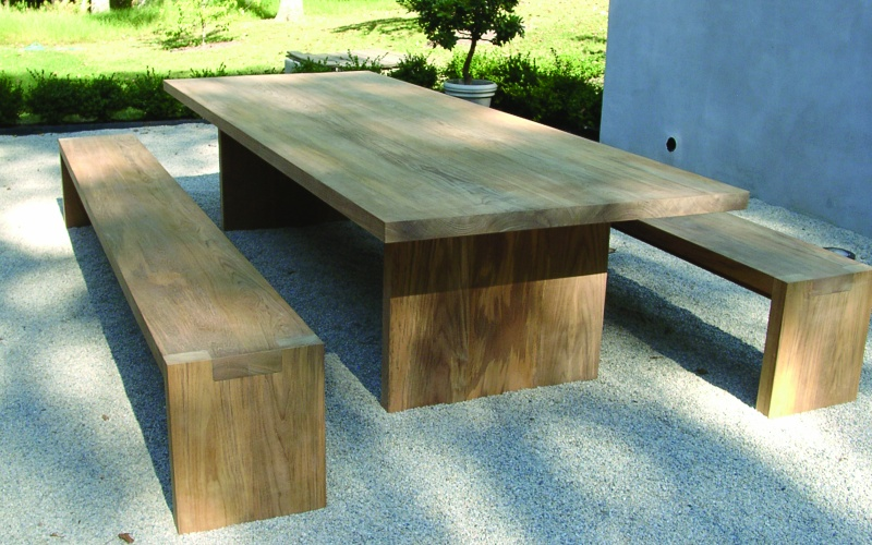 Teak Solid Top Table